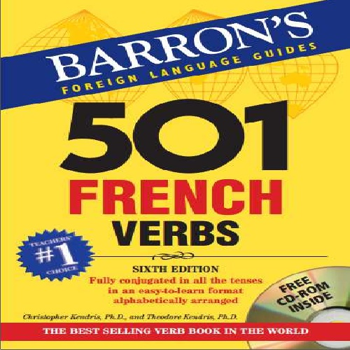 کتاب 501 French Verbs انتشارات Barrons - ویرایش ششم