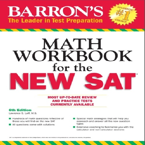کتاب Barrons Math Workbook for the NEW SAT - ویرایش ششم (2016)