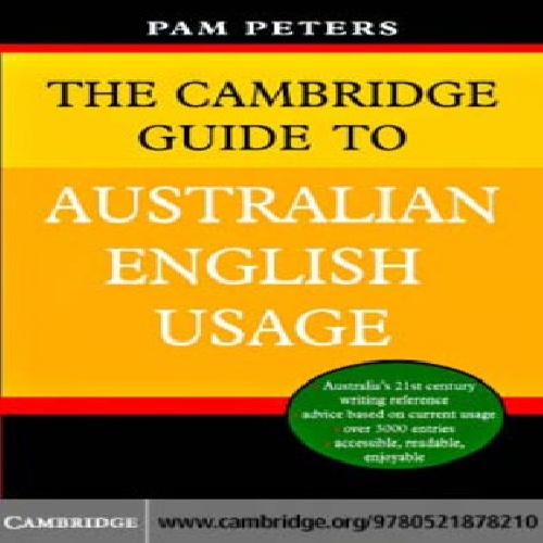 کتاب The Cambridge Guide to Australian English Usage